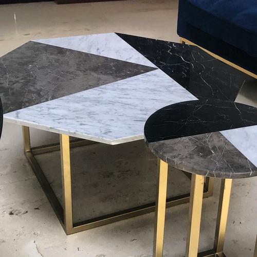 mesas de centro de mármol