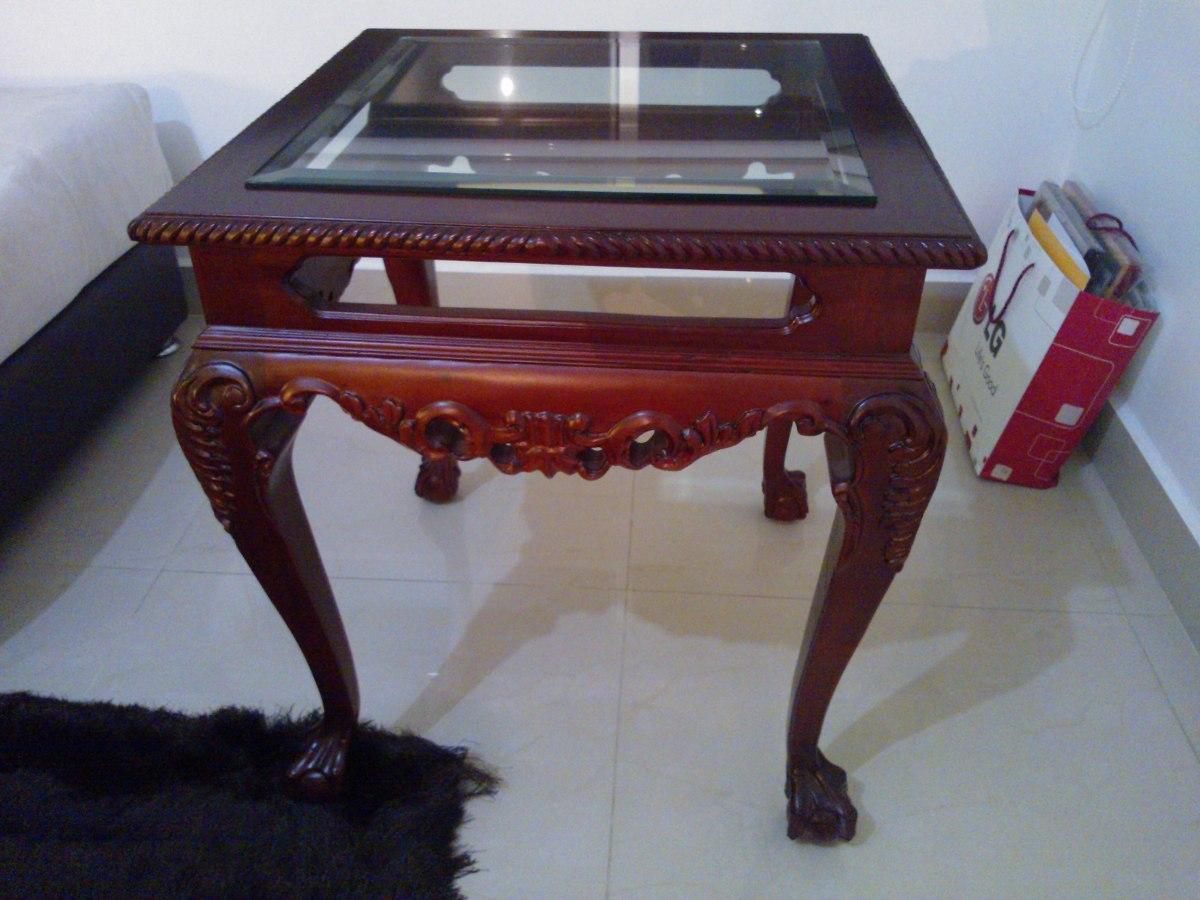 mesas de centro en madera de caoba para sala 3 piezas