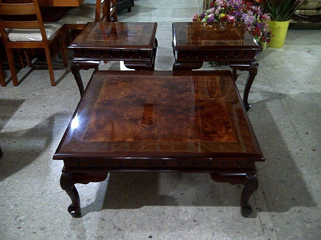 Mesas de centro estilo provenzal en madera fina talladas a - Mesa de centro de madera ...
