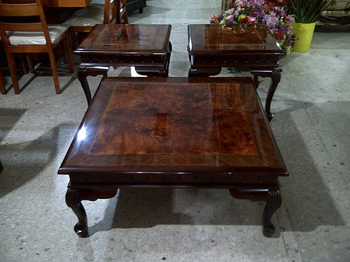 Mesas de centro estilo provenzal en madera fina talladas a m 16 en mercado libre - Muebles de chapa ...