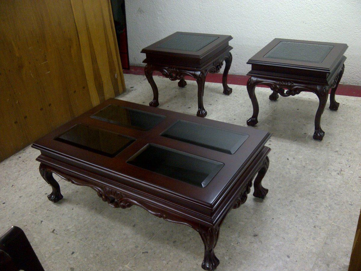 Mesas de centro juguetero en madera de cedro rojo 3 pzs - Mesa de centro grande ...