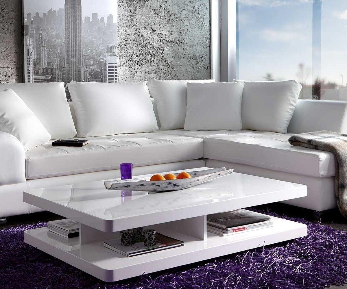 Mesas de centro minimalista moderna blanca ref lyra en mercado libre - Wohnzimmertisch modern ...