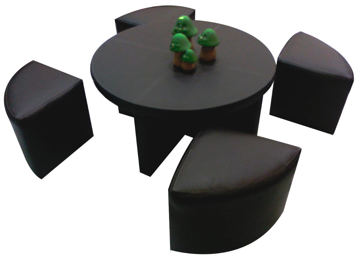 Mesas de centro minimalistas modernas 4 taburetes sala op4 for Sillas para salas pequenas