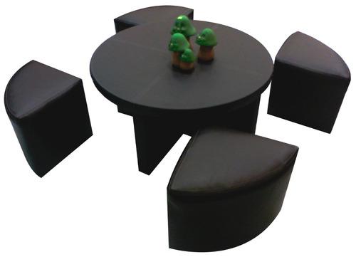 mesas de centro minimalistas modernas 4 taburetes sala op4