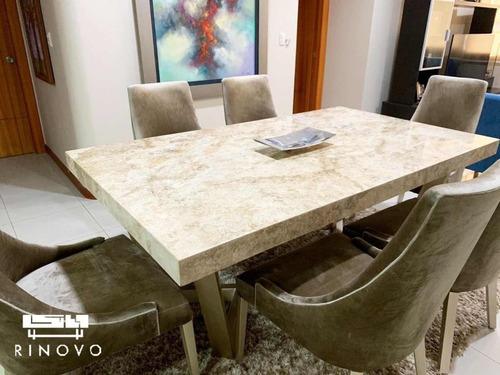 mesas de comedor con piedras de lujo (reservalas con $400)
