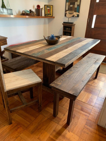 Mesa Comedor Rustica - Hogar y Muebles en Mercado Libre Chile