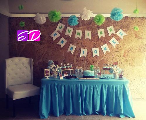 mesas de dulces cumpleaños, baby shower, boda tematicas