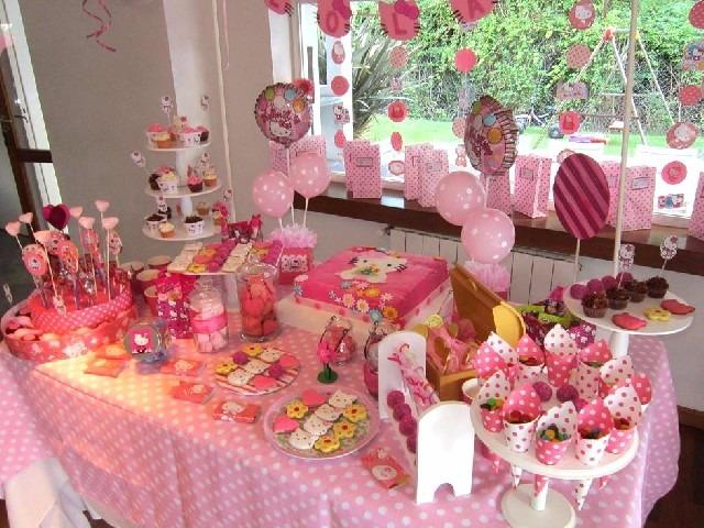 Mesas de dulces para eventos y centros de mesa de flores for Decoracion de mesas dulces infantiles