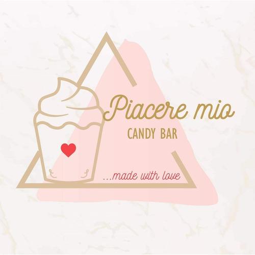 mesas de dulces  piacere mio candy bar