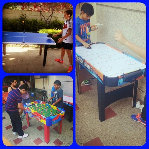 mesas de futbolito ping pong hockey canchas nerf recreacion