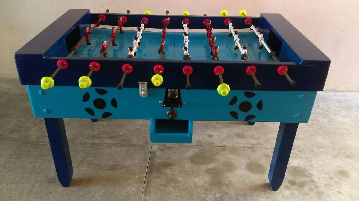 Mesas de futbolito profesionales uso rudo con monedero for Mesa futbolito