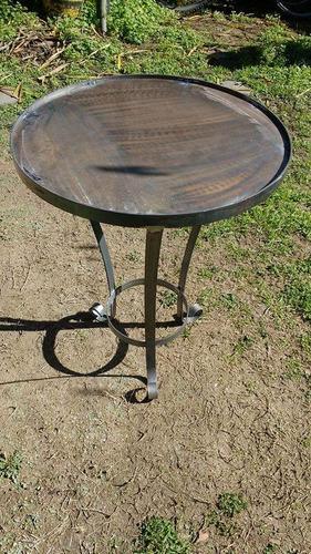 mesas de hierro con chapa  para exterior ideal mosaiquismo