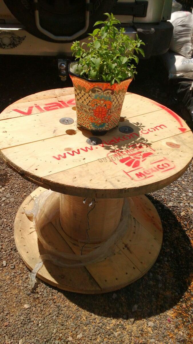 Mesas de jard n madera reciclada de paletsmx com carretes - Mesa de jardin de madera ...