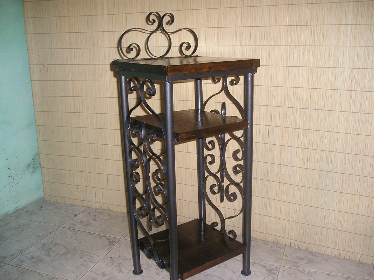 Mesas de luz hierro y madera en mercado libre - Mesas madera y hierro ...