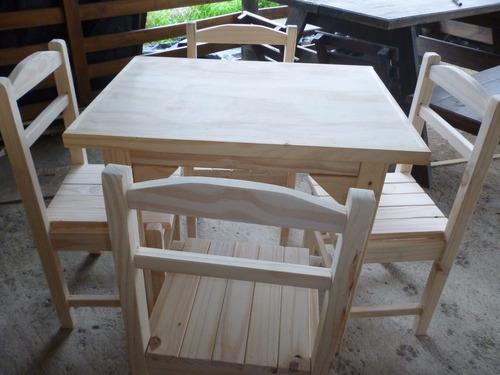Mesas de madera para bares boliches restoran 790 00 en for Mesas de madera para bar