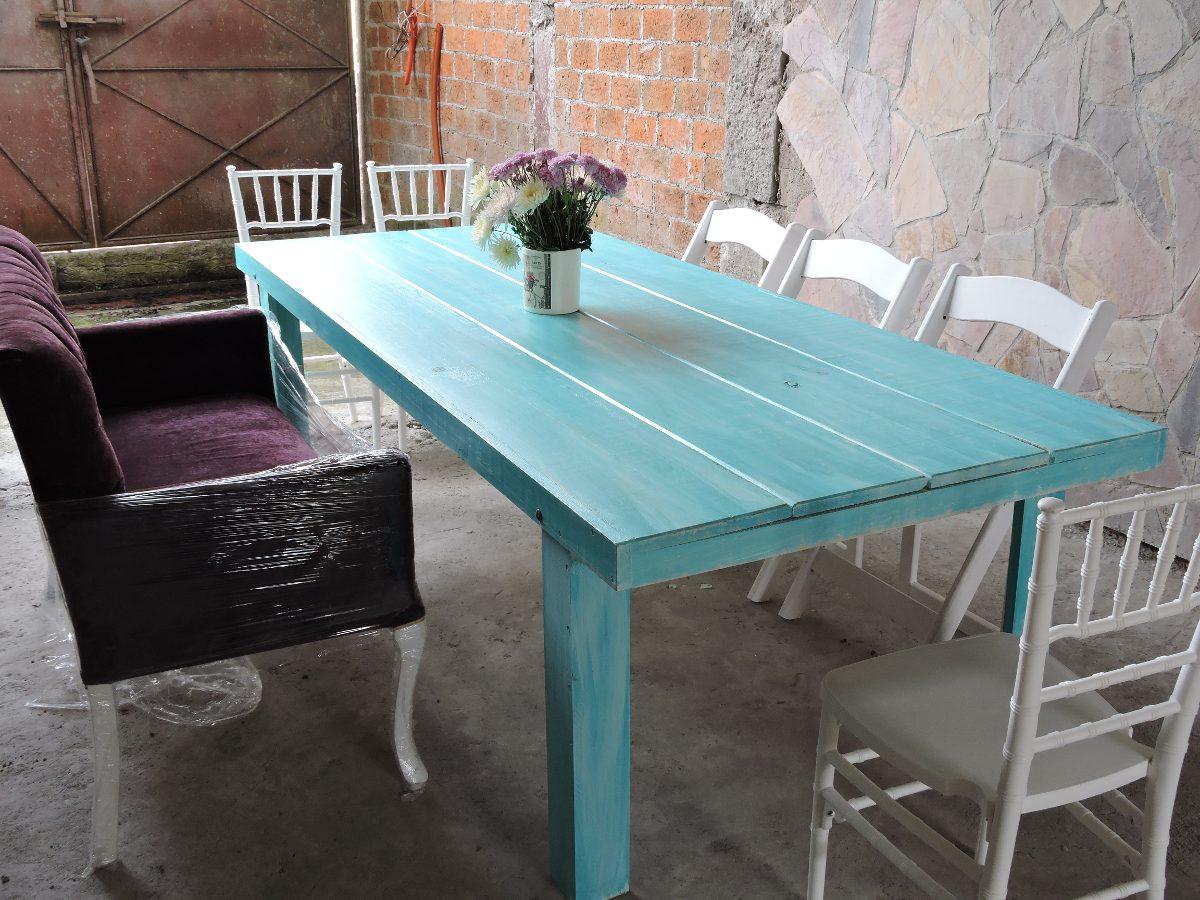 Mesas de madera vintage 2 en mercado libre for Mesa de camping de madera