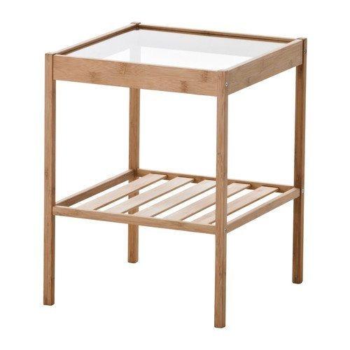 mesas de noche,ikea duradero mesilla de noche de bambú..