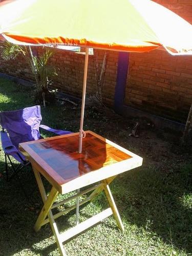 mesas de playa  y jardin