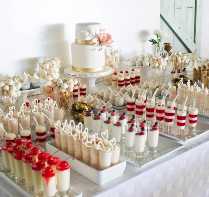 Mesas de postres bodas bautizos 15 a os 1era comunion - Postres para mesa de dulces ...