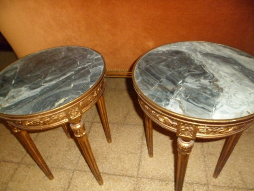 mesas de sala luis xvi con mármol son (2)