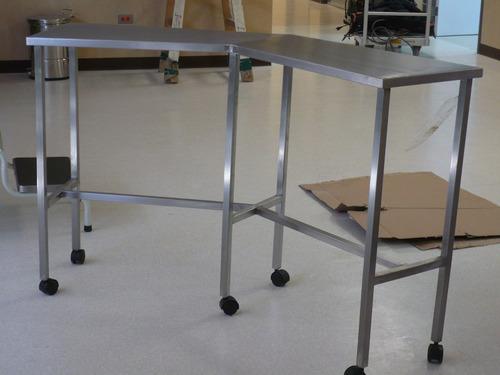 mesas de trabajos en acero inoxidable