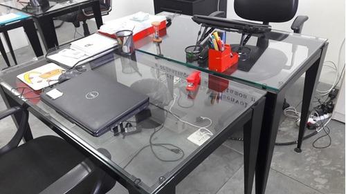 mesas de vidro  (escritorio)
