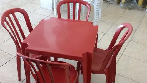 mesas e cadeiras de plastico colorido goyana 182 kilos