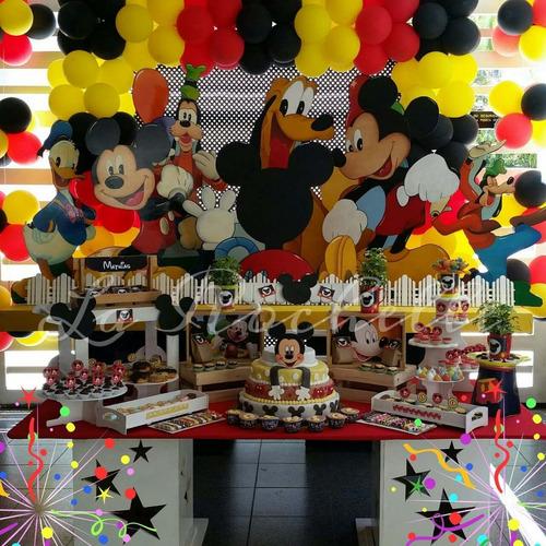 mesas fantasía, figuras en mdf, candybar,agencia de festejos