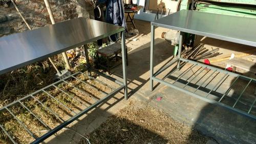 mesas gastronomicas en acero inoxidable  1,90 mts sin madera