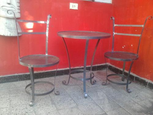 mesas hierro exterior