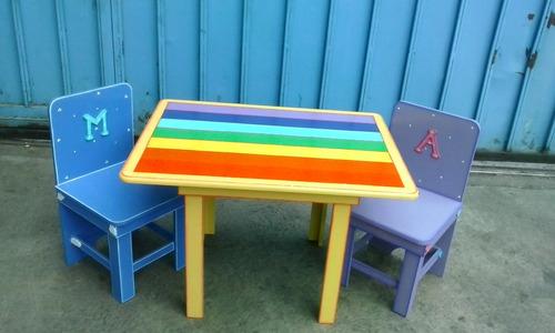 mesas infantiles practicas y duraderas 1 silla