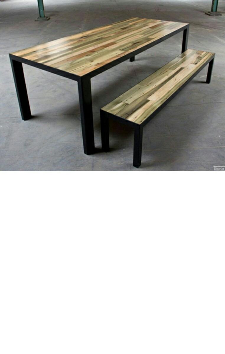 Mesas madera hierro lo ultimo en dise o en - Mesas madera diseno ...