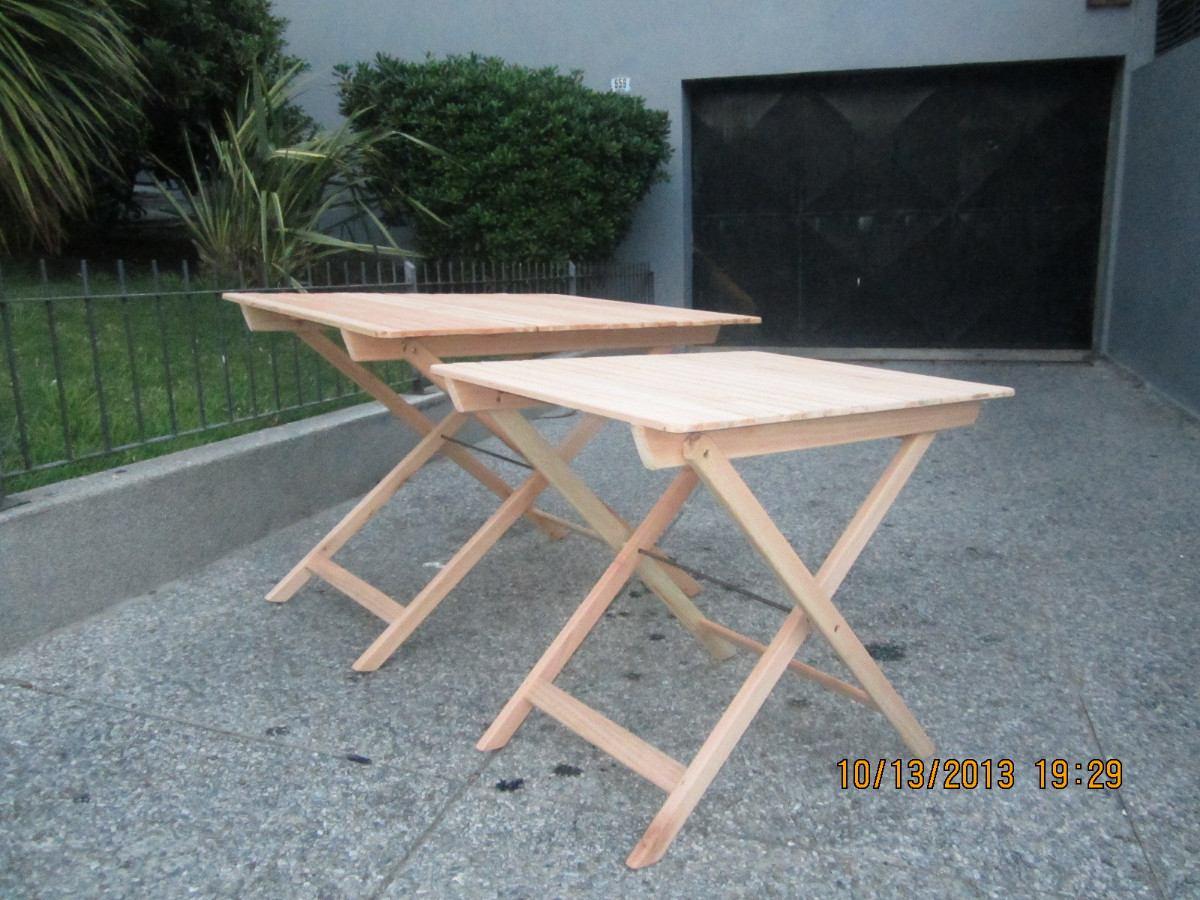Mesas madera plegables rectangulares y redondas eucaliptus - Mesas de madera plegables para exterior ...