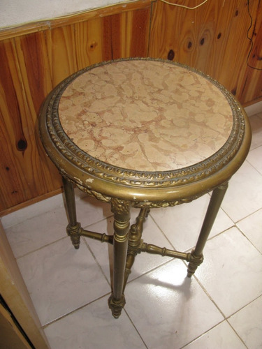 mesas marmol rosado doradas luis xvi juego de 3
