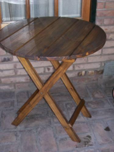 Mesas mesa redonda plegable de madera somos fabricante 65x75 en mercado libre - Mesa madera redonda ...