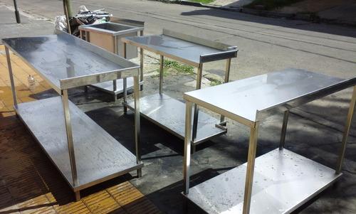 mesas, mesadas de acero inoxidable, hierro trabajos a medida