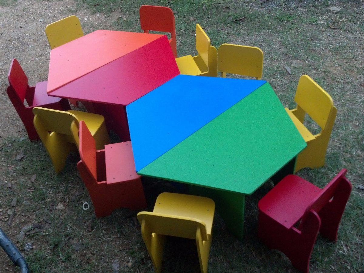 Mesas mobiliario para preescolar bs 0 25 en mercado libre for Muebles para preescolar