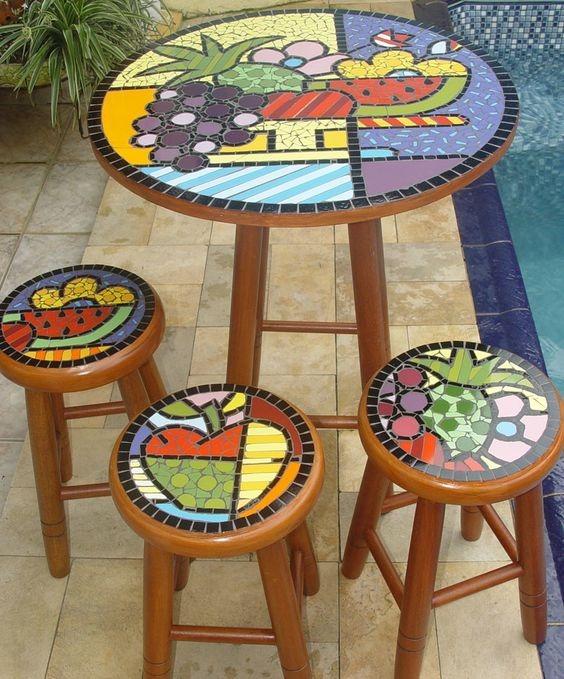 Mesas Mosaico Restaurantes,cafetería,casa,jardín,heladería - U$S 199 ...