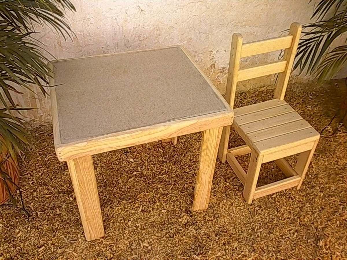 Mesas o mesitas de madera para ni os simples y tipo picnic bs 28 71 en mercado libre - Mesas madera ninos ...