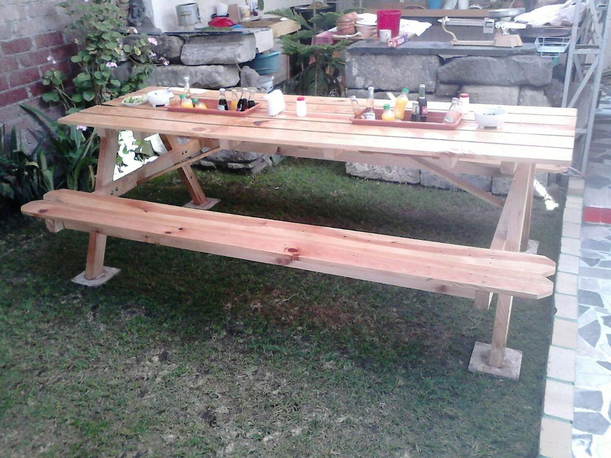 Mesas para jardin o garage 2 en mercado libre - Mesa de madera para jardin ...