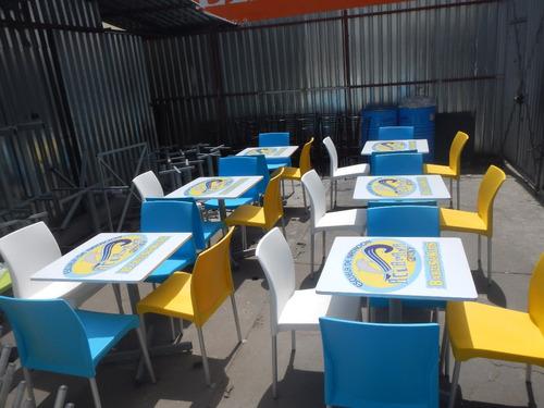 mesas personalizadas con logotipo para restaurantes