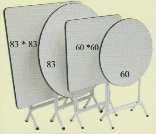 mesas plegables blancas 83cms redondas y cuadradas