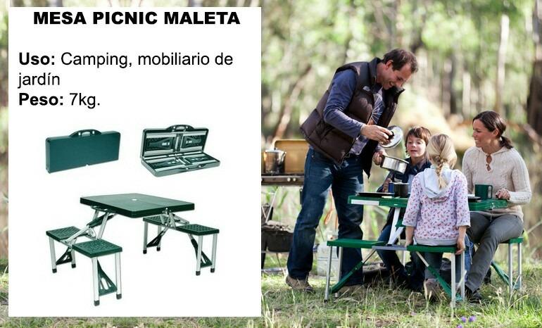 Mesas plegables de camping u s 99 00 en mercado libre for Mesas plegables para camping