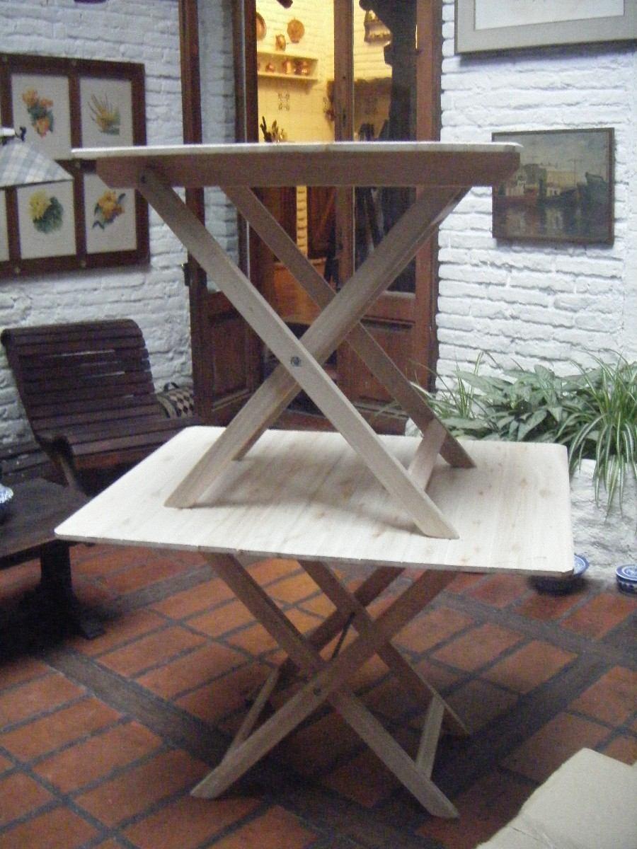 Mesas plegables de madera en eucaliptus grandis - Mesas de madera plegables para exterior ...