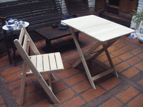 Mesas plegables de madera en eucaliptus grandis en mercado libre - Mesas de madera plegables para exterior ...