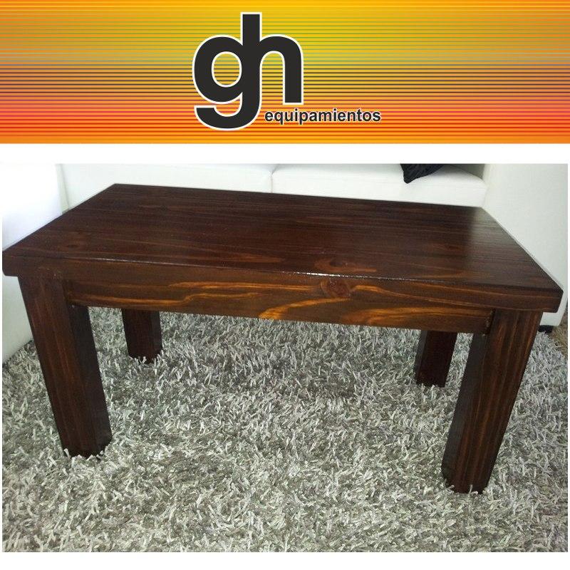 mesas ratonas en madera modernas para living sillones