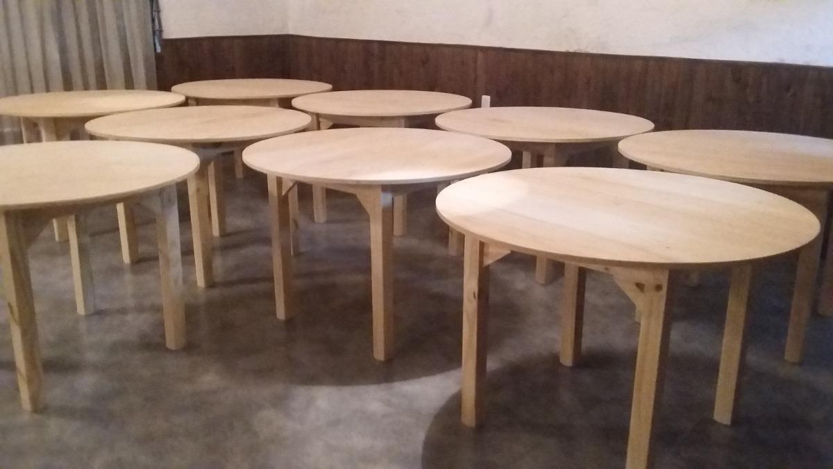 mesas redondas madera maciza cargando zoom - Mesa Redonda Madera