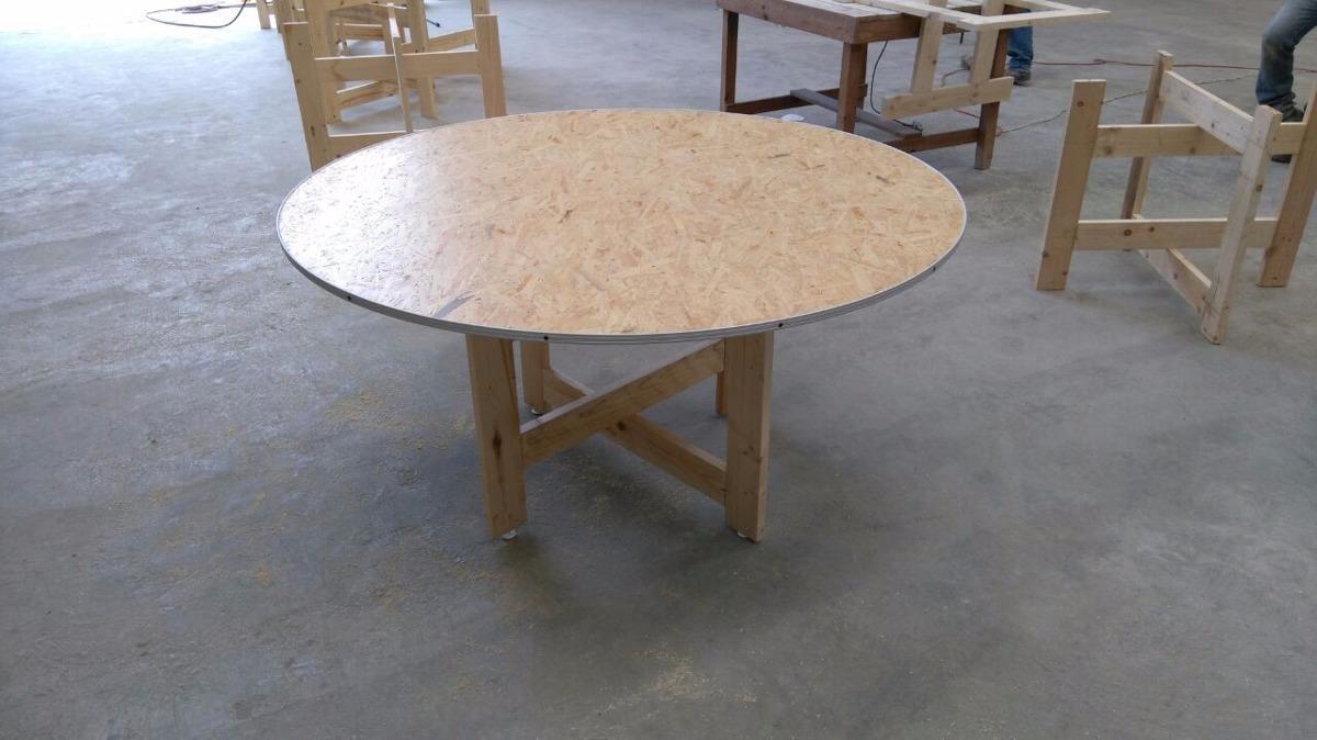 Mesas redondas para banquetes o eventos plegables de for Mesas redondas plegables para eventos