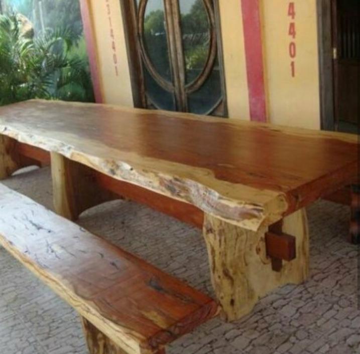 Mesas rusticas r 700 00 em mercado livre for Mesas redondas de madera rusticas