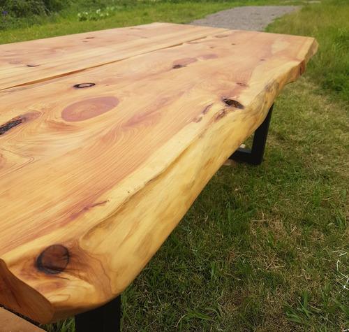 mesas rusticas comedor  mesadas barras tablones hierro